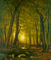 Worthington Whittredge: Evening in the Woods