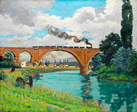 Jean-Baptiste-Armand Guillaumin: Railroad Bridge over the Marne at Joinville