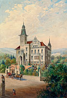 View of a Swiss Villa