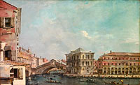 Francesco Guardi: The Grand Canal above the Rialto