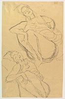 Two Studies for a Crouching Woman