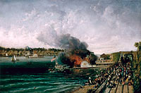 Burning of the Sidewheeler Henry Clay