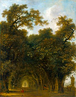 Jean-Honoré Fragonard: A Shaded Avenue