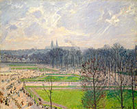 Camille Pissarro: The Garden of the Tuileries on a Winter Afternoon (2)