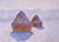Claude Monet: Haystacks (Effect of Snow and Sun)