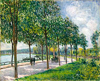 Alfred Sisley: Allée of Chestnut Trees
