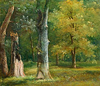 Ахилл-Этна Мишаллон: Trees in the Bois de Boulogne, Paris