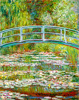 Claude Monet: Bridge over a Pond of Water Lilies