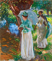 John Singer Sargent: Two Girls with Parasols