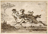 Centaur Abducting a Satyress