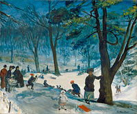 William Glackens: Central Park, Winter