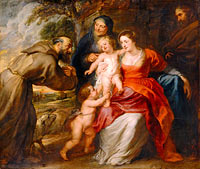 Peter Paul Rubens: The Holy Family with Saints Francis and Anne and the Infant Saint John the Baptist