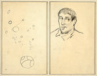 Circles and Numbers; Self-Portrait (recto)
