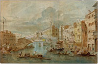 View of the Rialto Bridge, Venice
