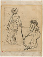 "Study for ""Mary Cassatt at the Louvre: The Etruscan Gallery"" (recto)"