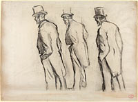 Three Studies of Ludovic Halévy Standing (2)