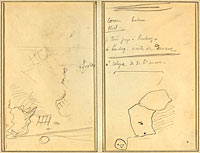 Head of a Monkey; Inventory of Bottles and Beverages (verso)