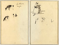 Two Cows; A Seated Breton Woman (verso)