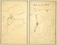 Breton Boy in a Landscape; Study of an Arm (verso)