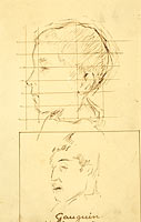 Heads of a Boy and a Man (Self-Portrait?) (verso)