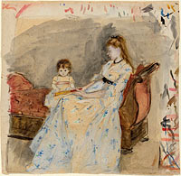 The Artist's Sister, Edma, with Her Daughter, Jeanne