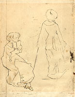 "Study for ""Mary Cassatt at the Louvre: The Etruscan Gallery"" (verso)"