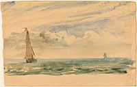 A Seascape with Two Sail Boats