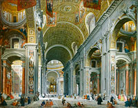 Interior of Saint Peter's, Rome (2)