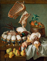 Alexandre François Desportes: Still Life with Dressed Game, Meat, and Fruit