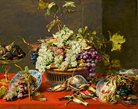 Frans Snyders: Still Life with Grapes and Game