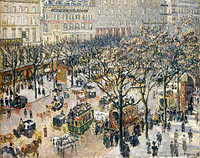 Boulevard des Italiens, Morning, Sunlight