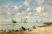 Washerwoman near Trouville