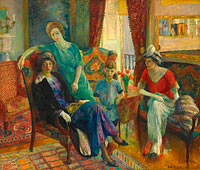 William Glackens: Family Group