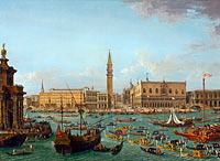 Antonio Joli: Procession of Gondolas in the Bacino di San Marco, Venice
