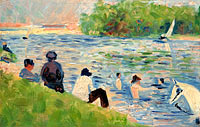Georges Seurat: Bathers (Study for Bathers at Asnières)