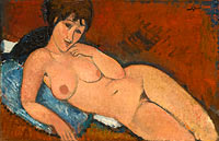 Amedeo Modigliani: Nude on a Blue Cushion