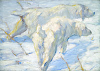 Franz Marc: Siberian Dogs in the Snow
