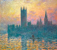 Claude Monet: The Houses of Parliament, Sunset