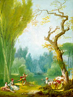 Jean-Honoré Fragonard: A Game of Horse and Rider