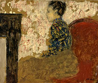 Woman Sitting by the Fireside