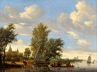 River Landscape with Ferry (2)