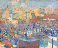 Allen Tucker: Madison Square, Snow