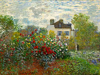 The Artist's Garden in Argenteuil (A Corner of the Garden with Dahlias)