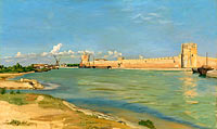 Frédéric Bazille: The Ramparts at Aigues-Mortes