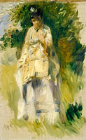 Woman Standing by a Tree
