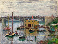 Claude Monet: Bridge at Argenteuil on a Gray Day