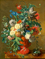 Jan van Huysum: Flowers in an Urn
