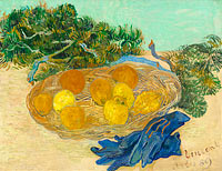 Vincent van Gogh: Still Life of Oranges and Lemons with Blue Gloves
