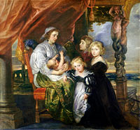 Peter Paul Rubens: Deborah Kip, Wife of Sir Balthasar Gerbier, and Her Children