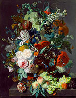 Ян ван Хёйсум: Still Life with Flowers and Fruit (2)